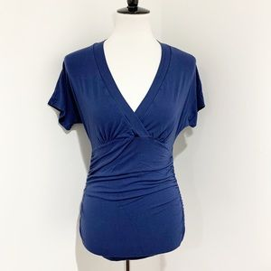 Isabella Oliver blue top tee T-shirt sz 0 XS S